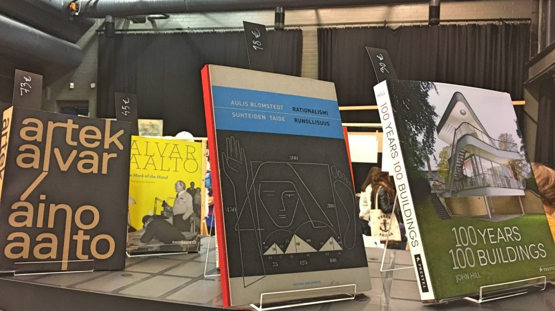 Architecture books on display