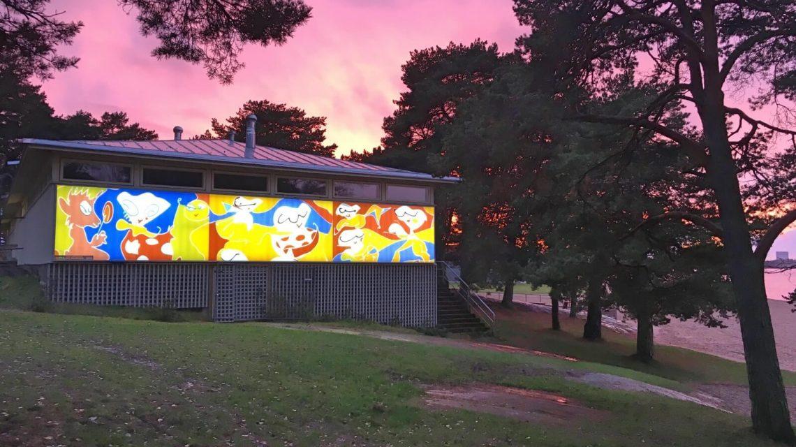 Hietsun paviljonki at sunset