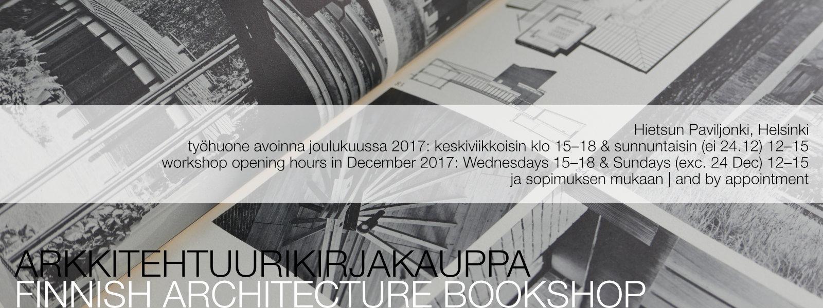 arkkitehtuuri kirjakauppa architecture bookshop aukioloajat opening hours helsinki