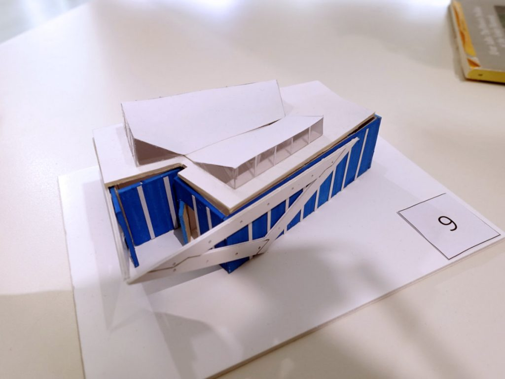 Scale model of Alvar Aalto Pavilion. Student project by Nicolas Beaucote, Lisa Domecq-Cazaux, Camille Riel and Marie Sarraute.