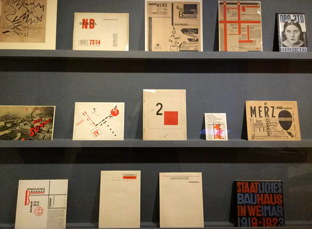 Graphics on display at the Jan Tschichold exhibition at Bard Graduate College. Photo: Anni Vartola.
