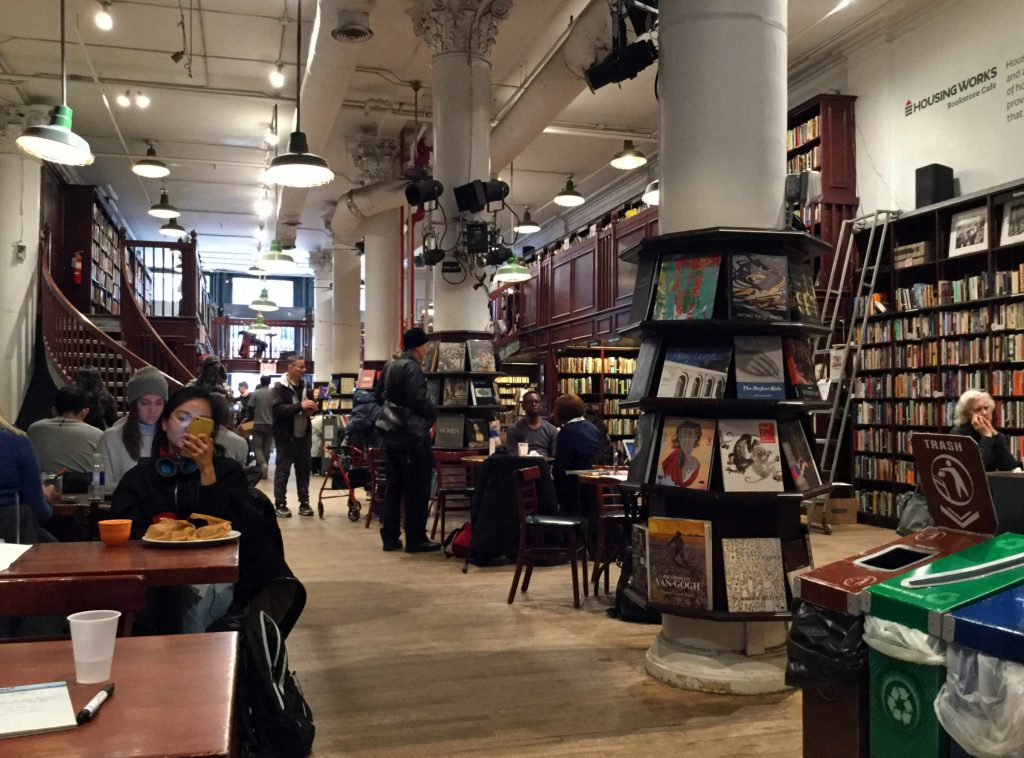 Housing Works bookstore and cafe on Crosby Street. Photo: Anni Vartola.