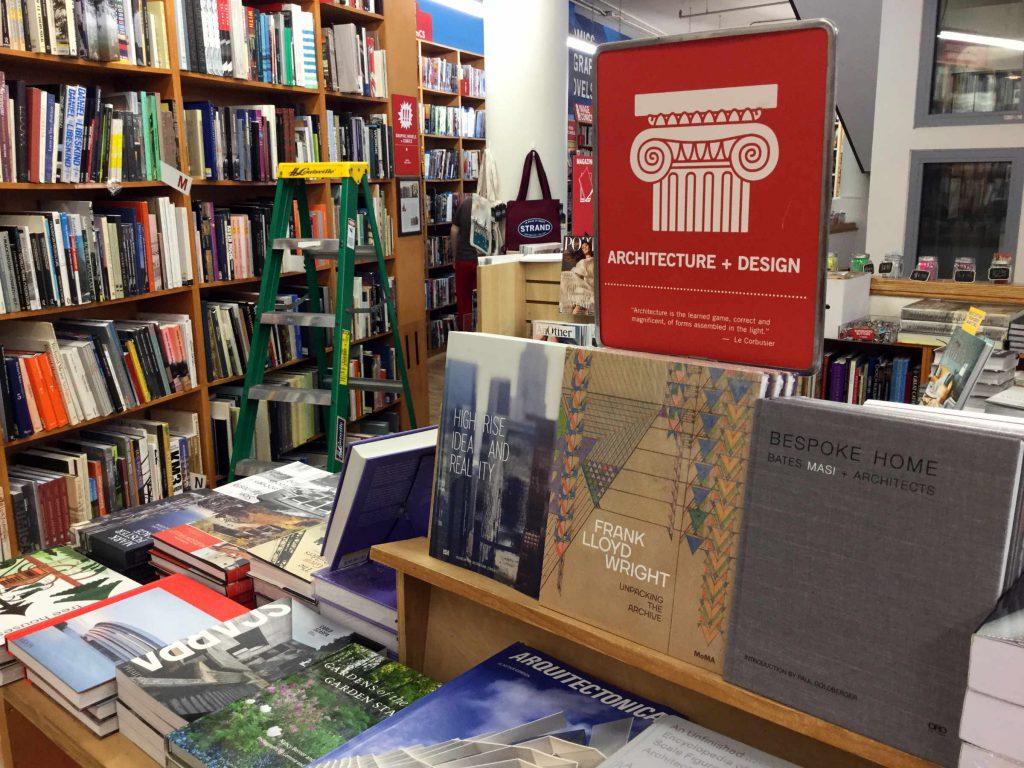 Architecture books at Strand on Broadway. Photo: Anni Vartola.