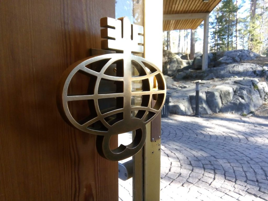 door handle at hotel rantapuisto