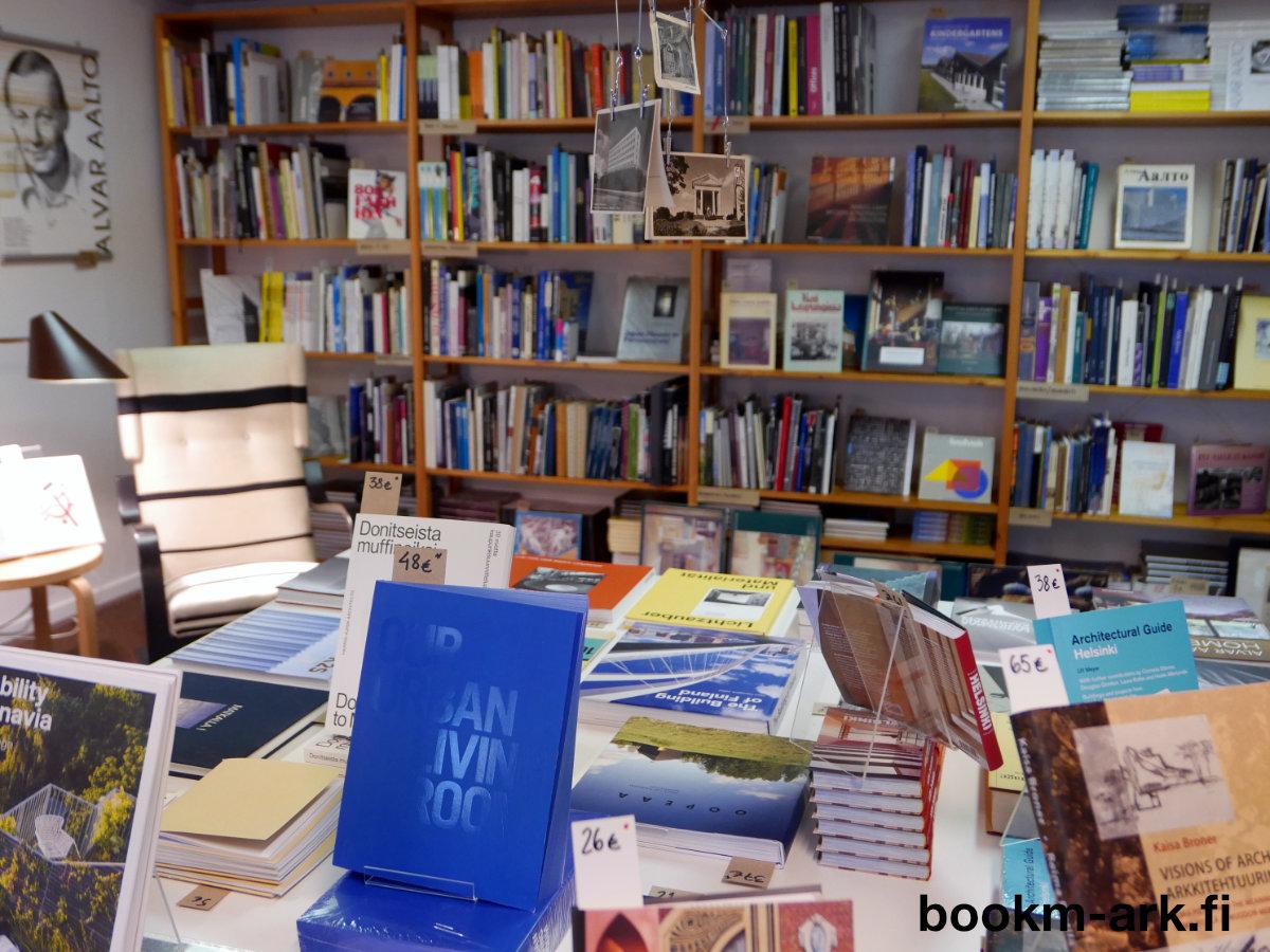 Bookmarchitecture eli bookm-ark.fi on arkkitehtuurikirjakauppa Munkkiniemessä