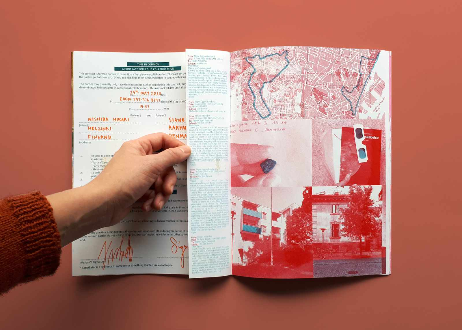 Image of a sample spread in BUM Edition 1