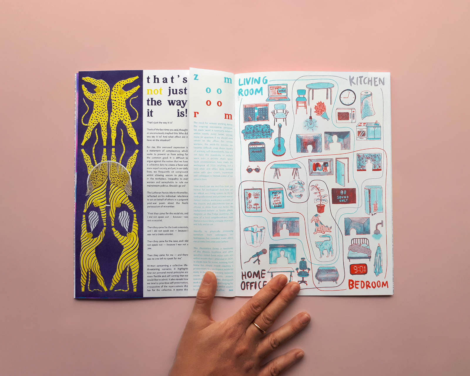 Sample spread from BUM editions issue 2