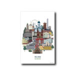 Helsinki-aiheinen juliste by Posteristudio